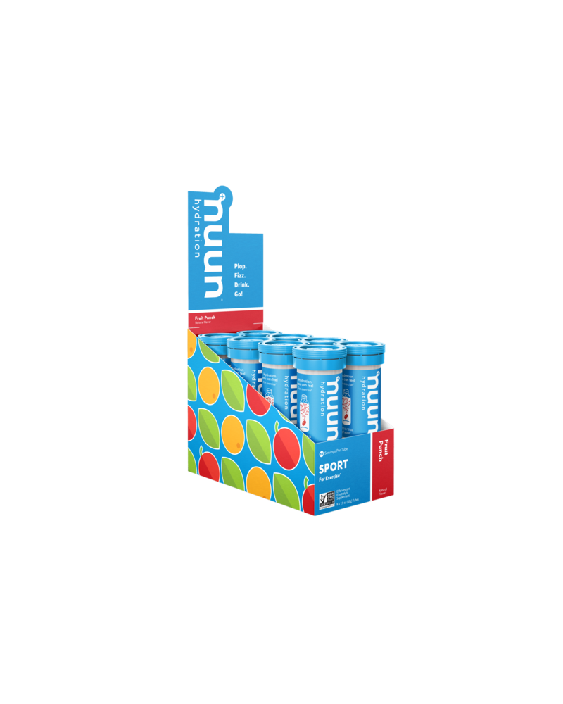 Nuun Active Hydration Tablets: Fruit Punch, Box of 8 Tubes