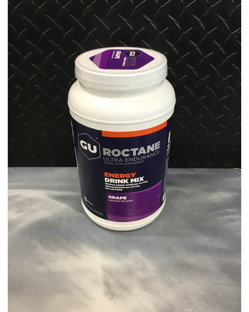 GU Energy Labs GU Roctane Energy Drink Mix Caffiene-free Grape 24 Serving Canister