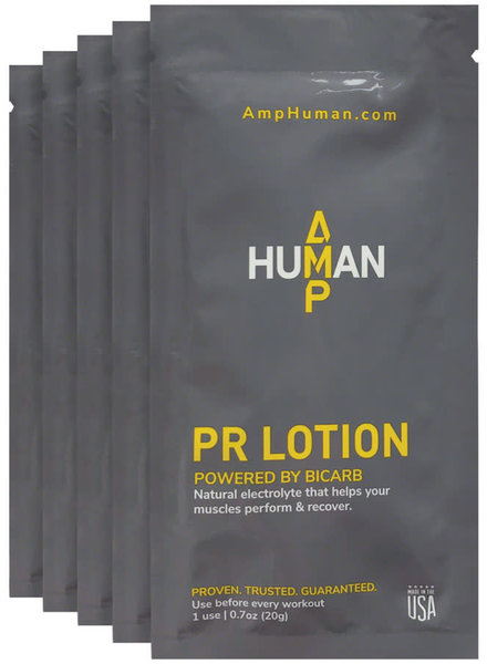AMP Human AMP Human Performance PR Lotion - On The Go Packets, 5 0.7oz single
