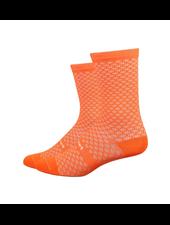 Defeet DeFeet Evo Mont Ventoux Socks - 6 inch, Hi-Vis Orange, X-Large
