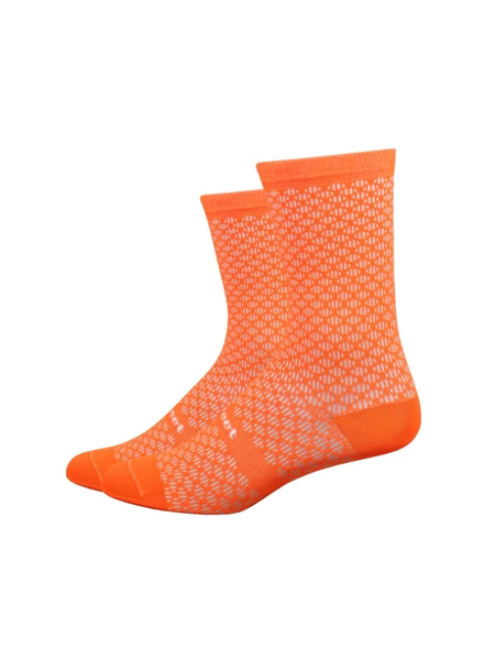 Defeet DeFeet Evo Mont Ventoux Socks - 6 inch, Hi-Vis Orange, X-Large