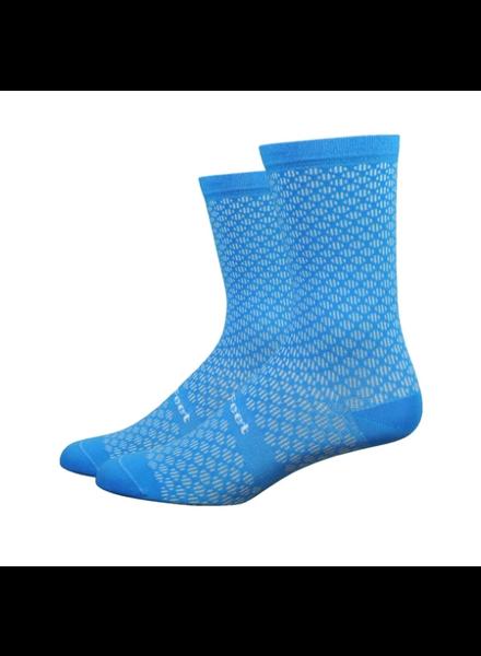 Defeet DeFeet Evo Mont Ventoux Socks - 6 inch, Barnstormer Blue, Large