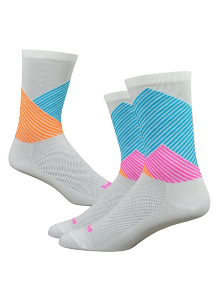 Defeet COLOR MT WHITE/ BLUE/ HI-VIS ORANGE/ HI-VIS PINK L