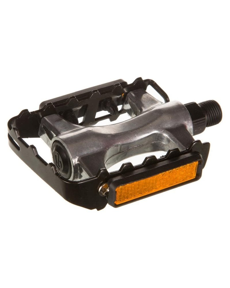 EVO EVO, Swivel Alloy, Pedals, Body: Aluminum, Spindle: Steel, 9/16'', Silver, Pair