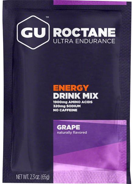 GU Energy Labs GU Roctane Energy Drink Mix Caffiene-free Grape Single
