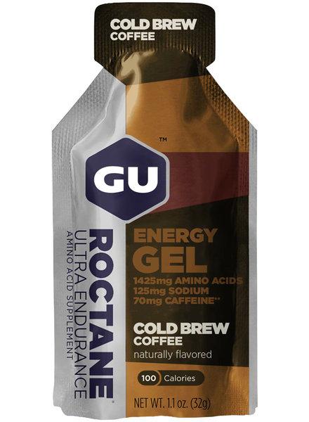 GU Energy Labs GU Roctane Energy Gel: Cold Brew Coffee, singles