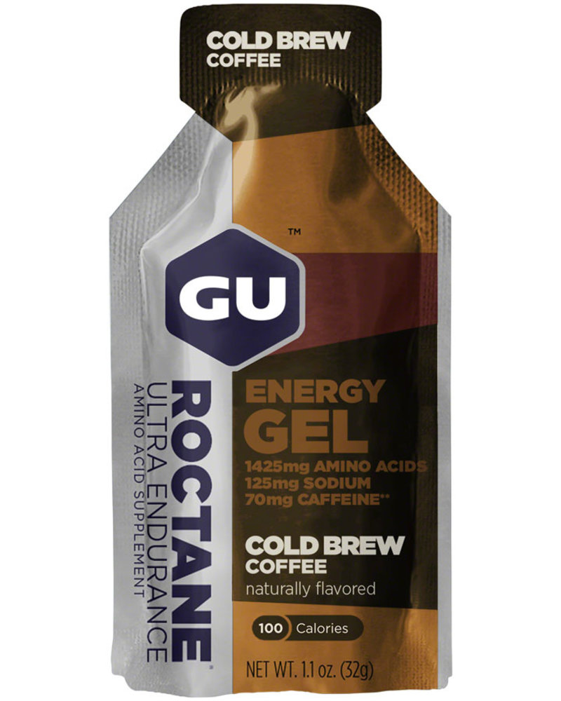 GU Energy Labs GU Roctane Energy Gel: Cold Brew Coffee, singles