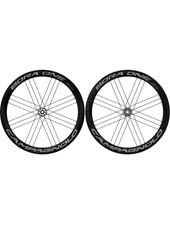 Campagnolo Bora One 50 Disc Brake Dark Clincher, Wheel, Front and Rear, 700C / 622, Holes: 24, 12mm TA, F: 100, R: 142, Disc Center Lock, Campagnolo, Set