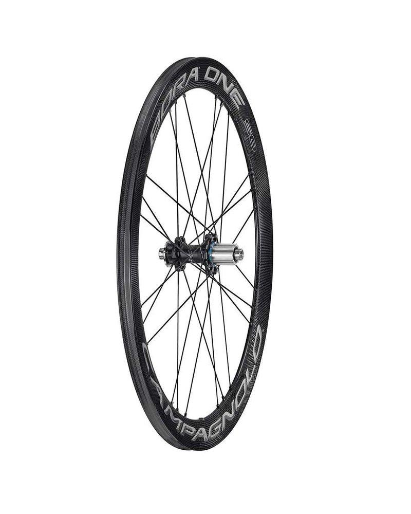 Campagnolo Campagnolo, Bora One 50 Disc Brake Dark Clincher, Wheel, Front and Rear, 700C / 622, Holes: 24, 12mm TA, F: 100, R: 142, Disc Center Lock, Campagnolo, Set