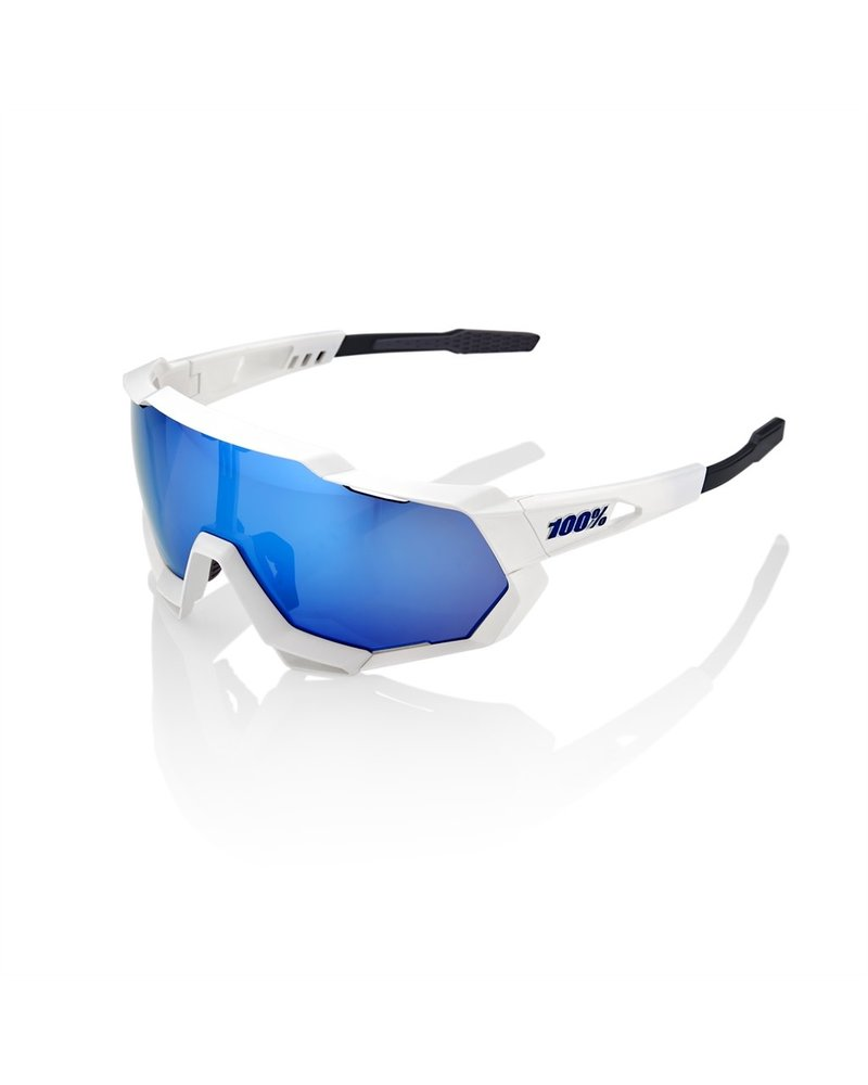100 Percent Speedtrap - Matte White - HiPER Multilayer Mirror Lens
