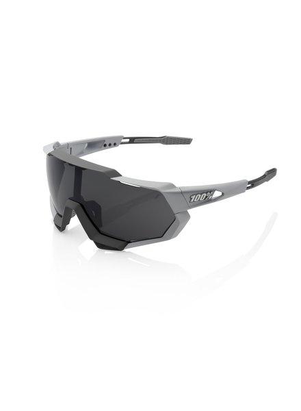 100 Percent Speedtrap - Soft Tact Stone Grey - Smoke Lens