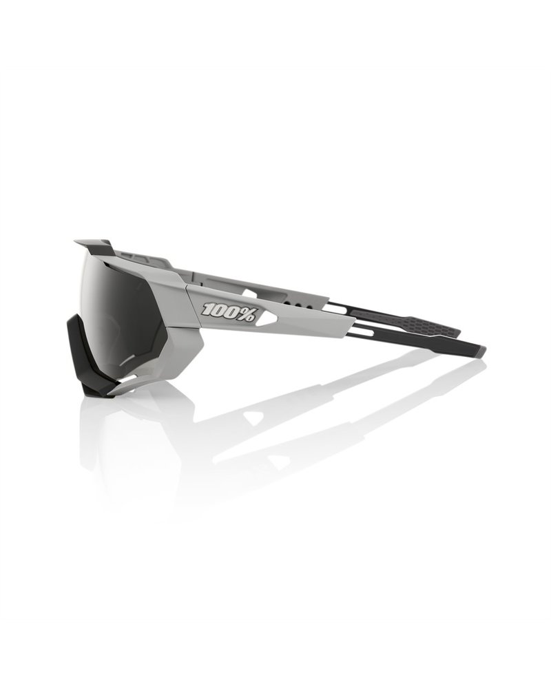 100 Percent Speedtrap - Soft Tact Stone Grey - Smoke Lens
