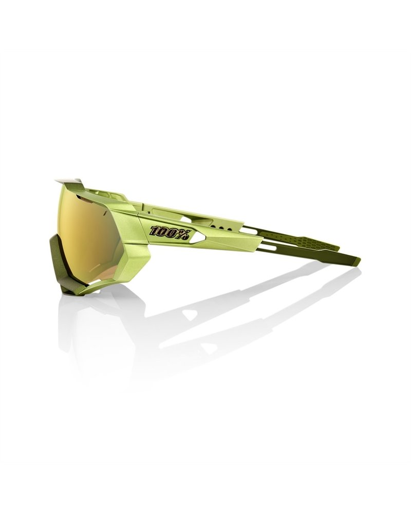 100 Percent Speedtrap - Matte Metallic Viperidae - Bronze Multilayer Mirror Lens