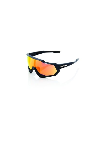 100 Percent Speedtrap - Soft Tact Black - HiPER Red Multilayer Mirror Lens