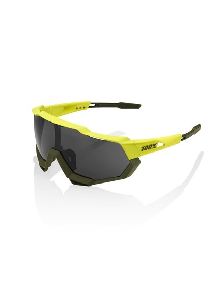 100 Percent Speedtrap - Soft Tact Banana - Black Mirror Lens