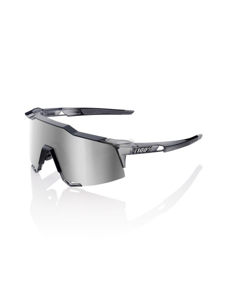 100 Percent Speedcraft - Polished Translucent Crystal Grey - HiPER Silver Mirror Lens