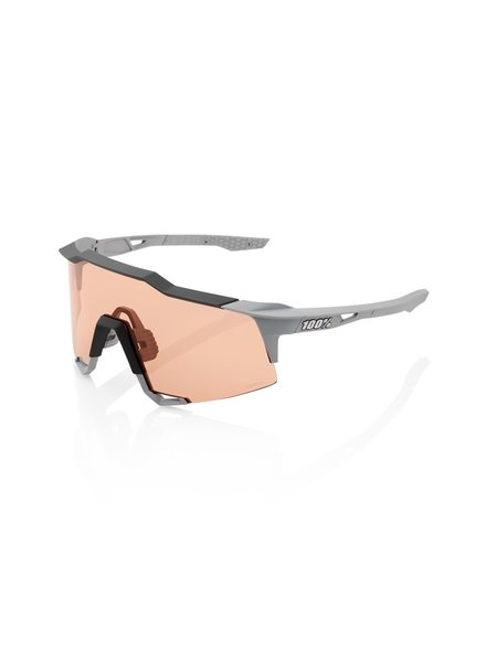 100 Percent SPEEDCRAFT - Soft Tact Stone Grey - HiPER Coral Lens