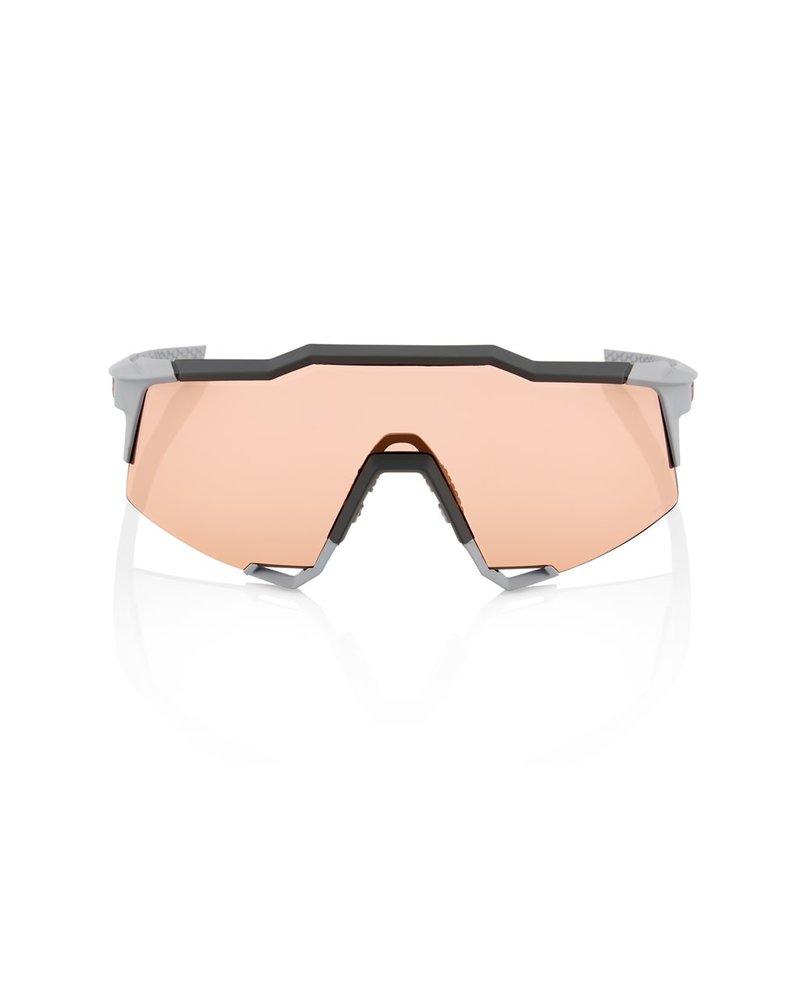100 Percent SPEEDCRAFT - Soft Tact Stone Grey - HiPER Coral Lens