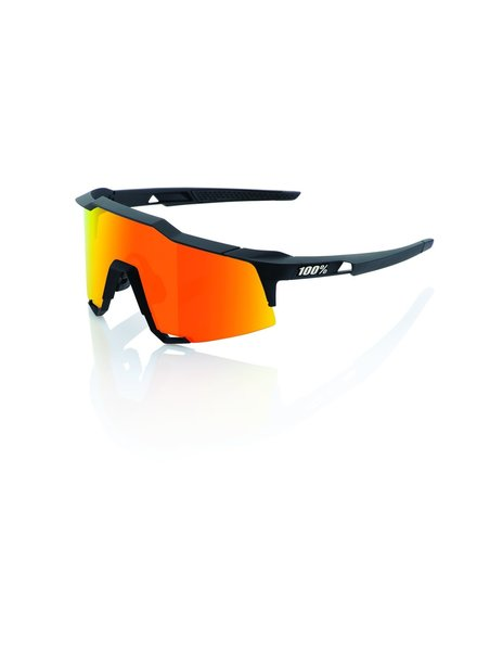 100 Percent Speedcraft - Soft Tact Black - HiPER Red Multilayer Mirror Lens