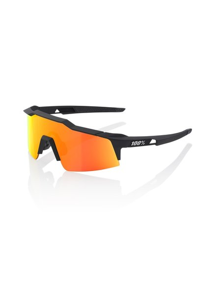 100 Percent Speedcraft SL - Soft Tact Black - HiPER Red Multilayer Mirror Lens