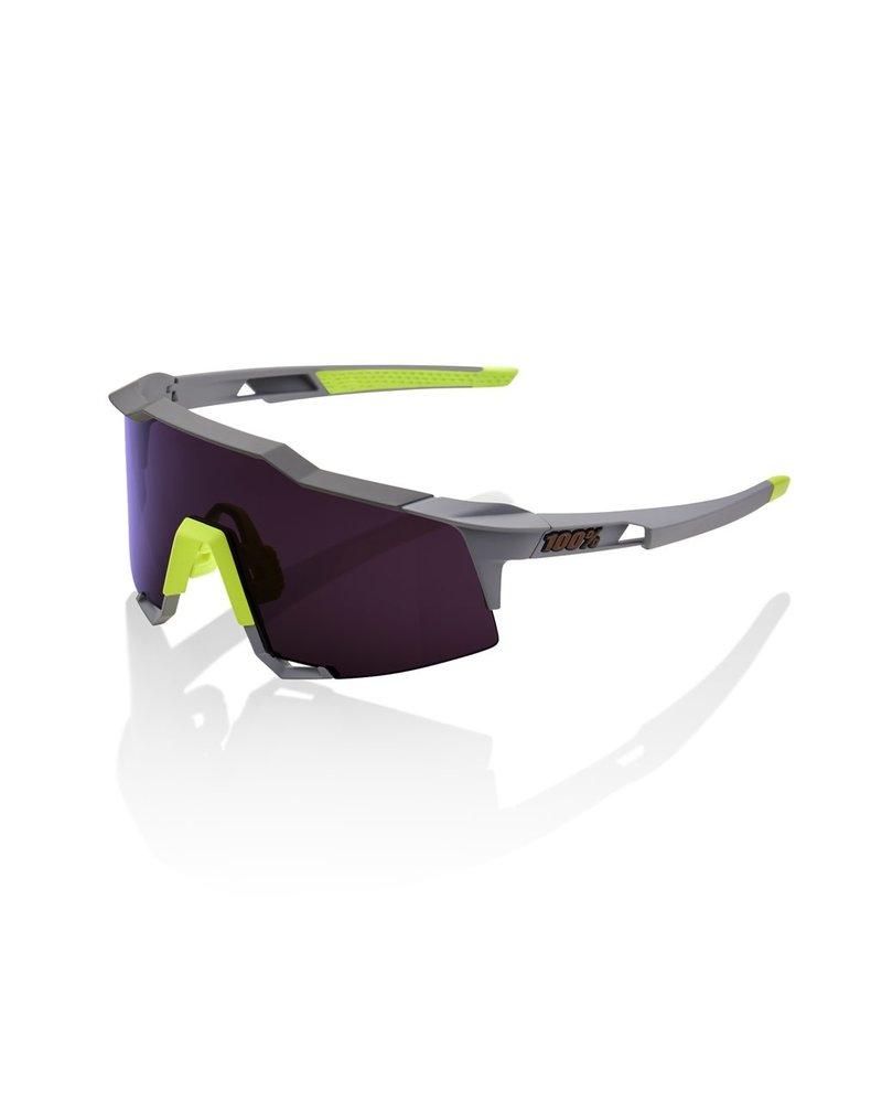 100 Percent Speedcraft - Soft Tact Midnight Mauve - Purple Lens