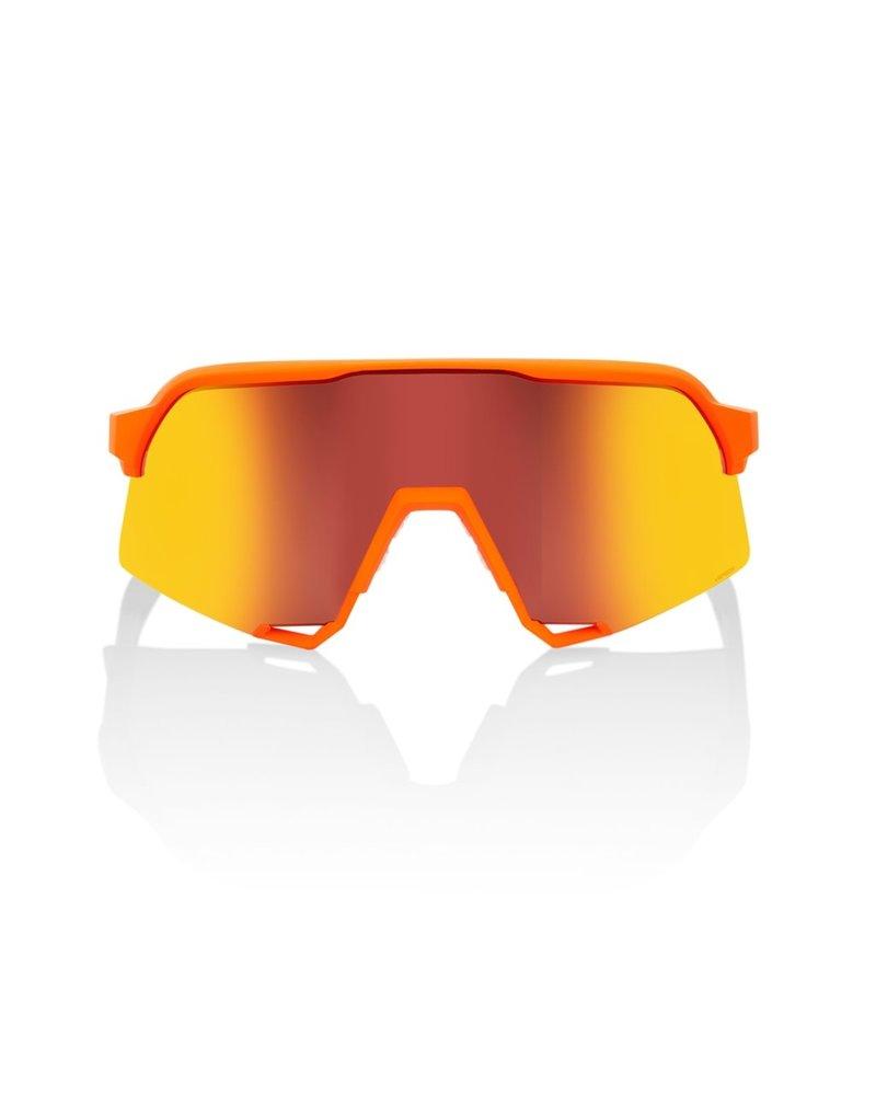 100 Percent Van der Poel LE - Neon Orange - HiPER Red Multilayer Mirror Lens