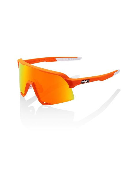 100 Percent Van der Poel LE - Neon Orange - HiPER Red Multilayer Mirror Lens