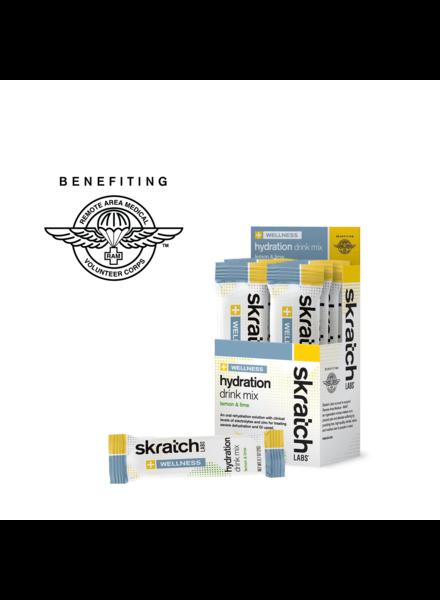 Skratch Labs Wellness Hydration Drink Mix, Lemon & Lime, 21g, Single Serving 8-Pack