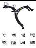 Saris Bones EX Trunk Rack: 2 Bike, Black