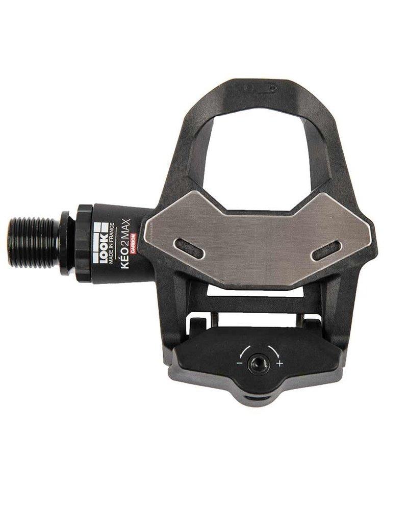 Look Keo 2 Max Carbon Pedals, Cr-Mo Axle, Black