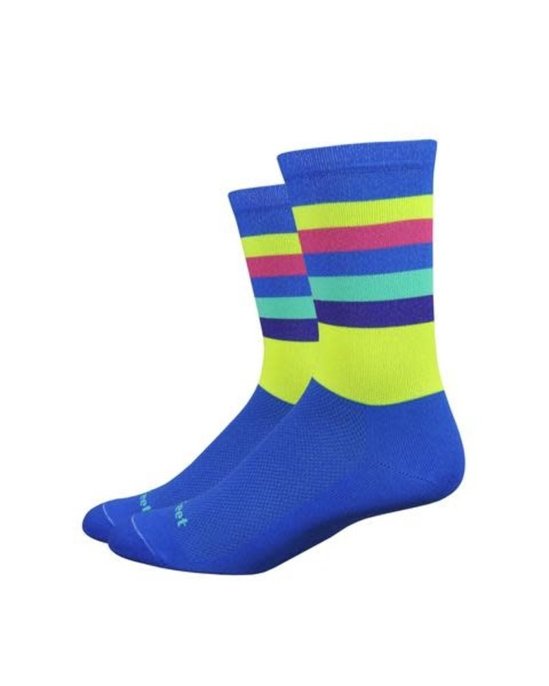 "Defeet Aireator 6"" Maverick-Blue/Hi-Vis Yellow"