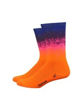 "Defeet Aireator 6"" Ombre-Hi-Vis Orange/Pink/Navy"
