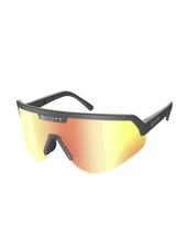 Scott Sport Shield Sunglasses- Black/Red Chrome