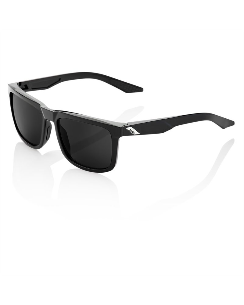 100 Percent Blake - Polished Black - Grey PEAKPOLAR Lens