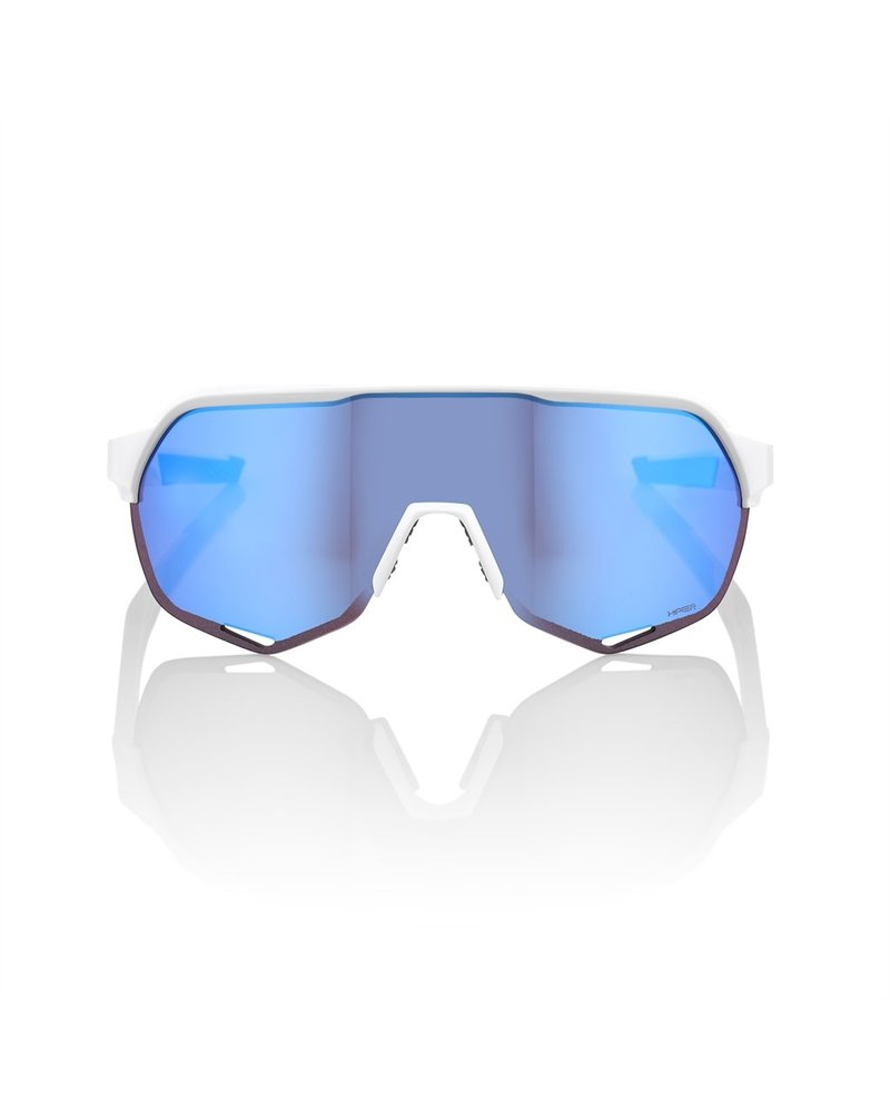 100 Percent SP20 - S2 - Matte White - HiPER Blue Multilayer Mirror Lens