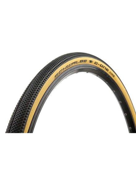 Schwalbe G-One Allround, Tire, 700x38C, Folding, Tubeless Ready, Addix, RaceGuard, 67TPI, Tanwall