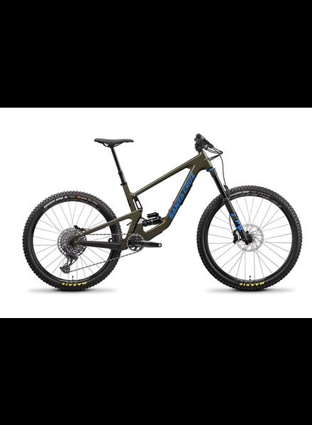 Santa Cruz Bicycles 2021 Bronson 4 C MX (Mixed-Wheels) Gloss Moss/Blue Size Large S-Kit