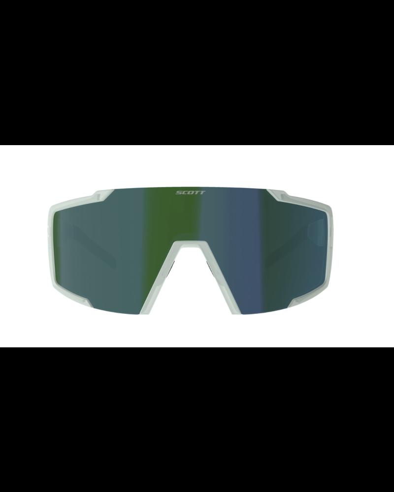 Scott Shield Sunglasses - Mineral Blue/Green Chrome