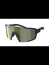 Scott Shield Sunglasses - Submariner Blue/Gold Chrome