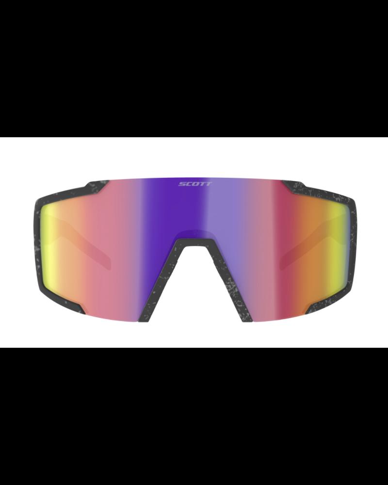 Scott Shield Sunglasses - Marble Black/Teal Chrome