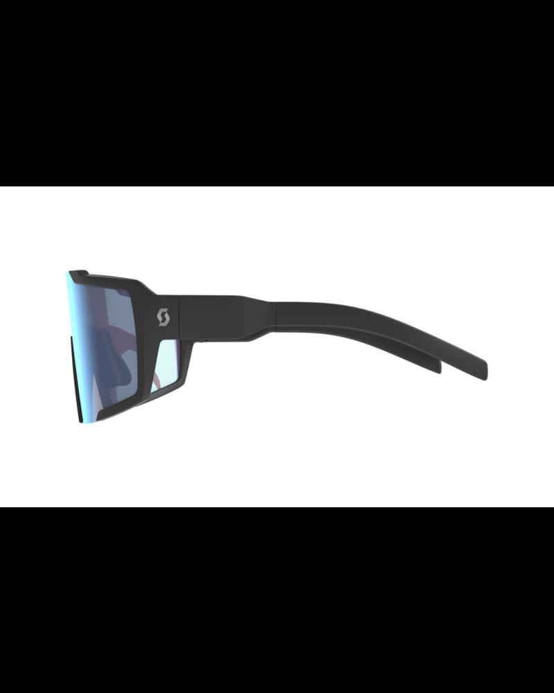 Scott Shield Sunglasses - Black Matt/Blue Chrome Enhancer
