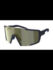 Scott Shield Compact Sunglasses - Submariner Blue/Gold Chrome