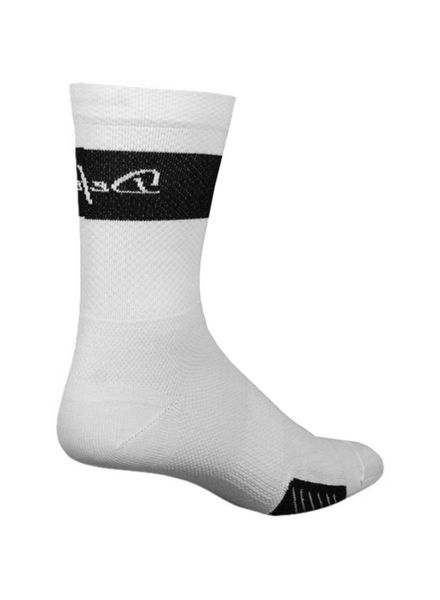 Defeet DeFeet Cyclismo Trico Sock: White/Black; MD