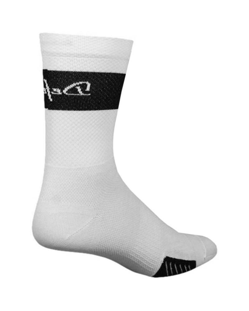 Defeet DeFeet Cyclismo Trico Sock: White/Black; MD
