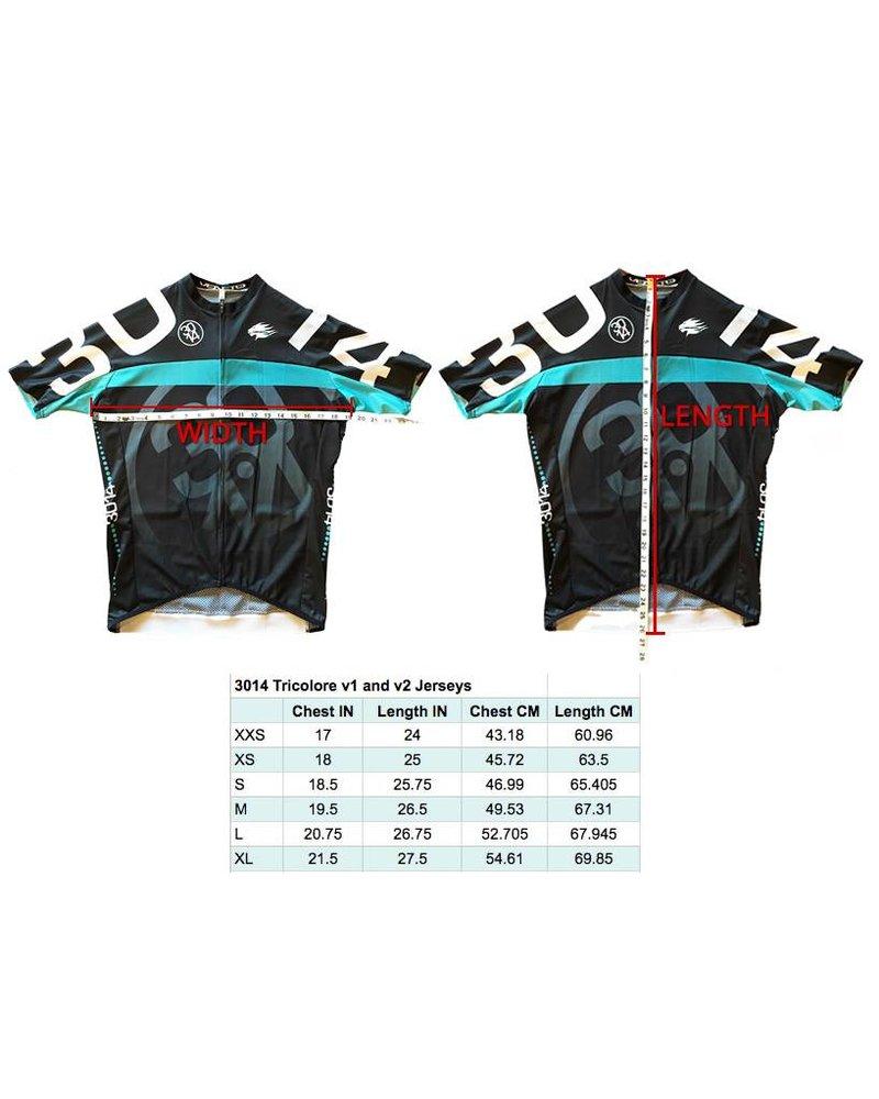 3014 Black TriColore Jersey