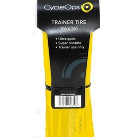 CycleOps Trainer Tire  700 x 23c Folding Bead Yellow