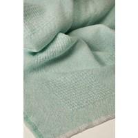 Block Pattern Baby Blankets Aqua (2 lbs)