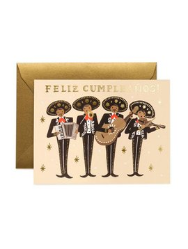 "Rifle Paper Co : Mariachi "" Feliz Cumpleanos "" Birthday Card"