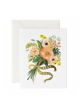Rifle Paper Co : Best Wishes Bouquet of Flowers Card