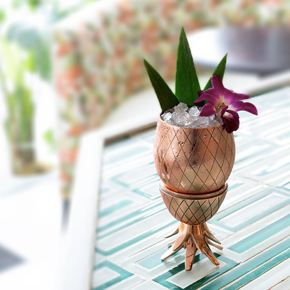 Copper Pineapple Cocktail Tumbler